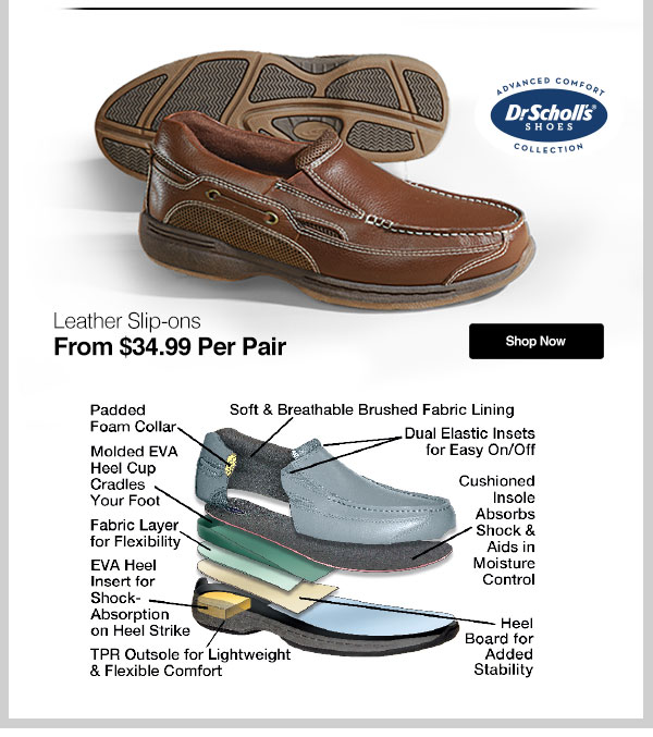 Men's Dr. Scholl's Leather Slip-ons