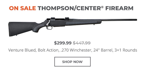 Thompson/Center Venture Blued, Bolt Action, .270 Winchester