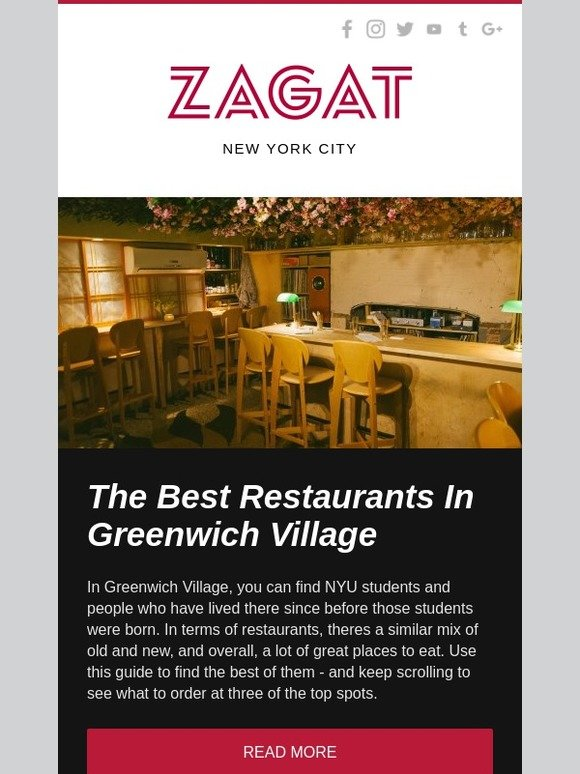 Zagat Where To Eat In Greenwich Village Milled