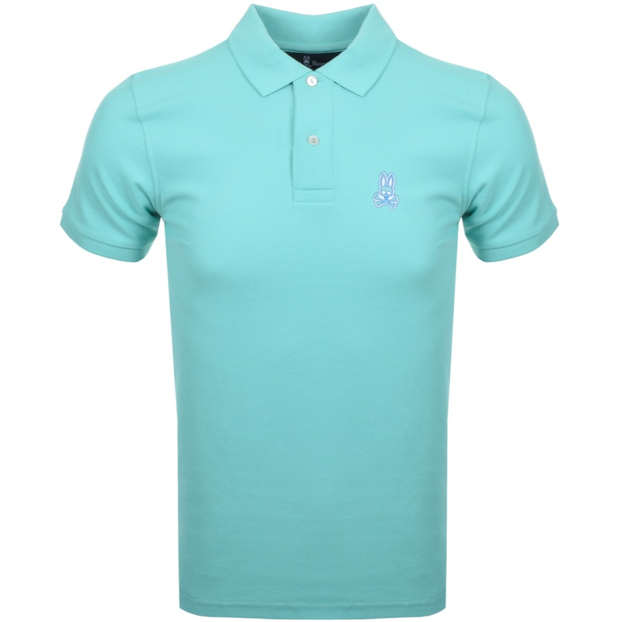 Psycho Bunny Short Sleeved Polo T Shirt Green