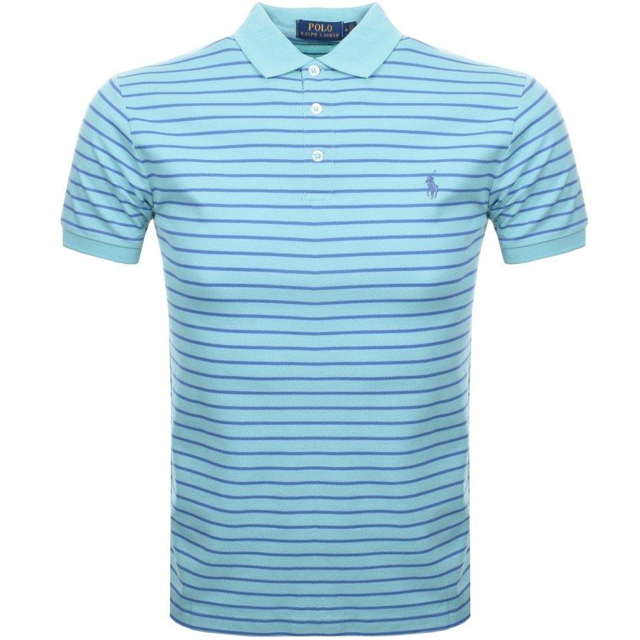 Ralph Lauren Stripe Polo T Shirt Green