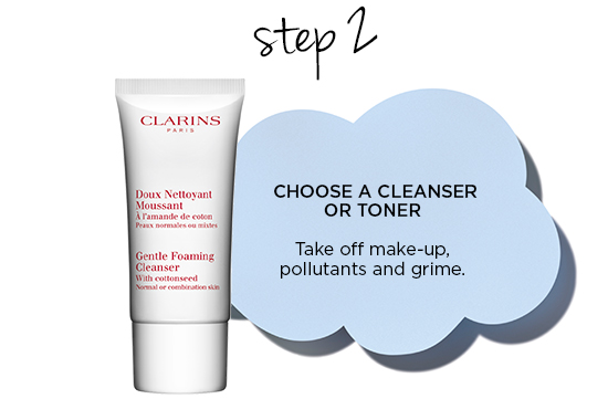 CHOOSE A CLEANSER OR TONER