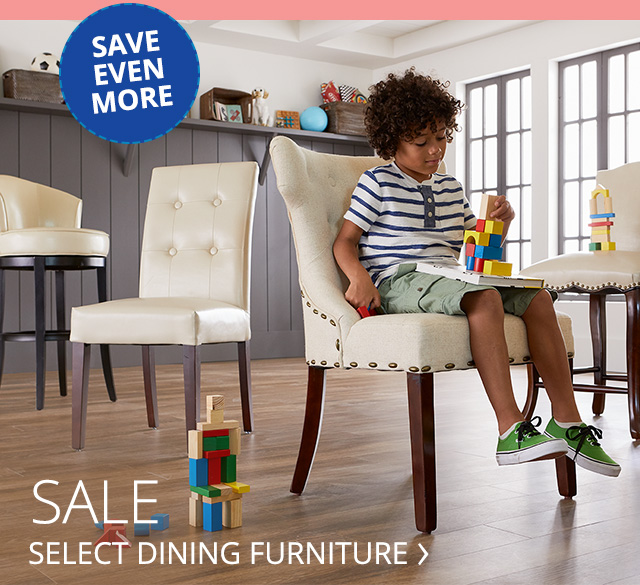 Dining furniture on sale.