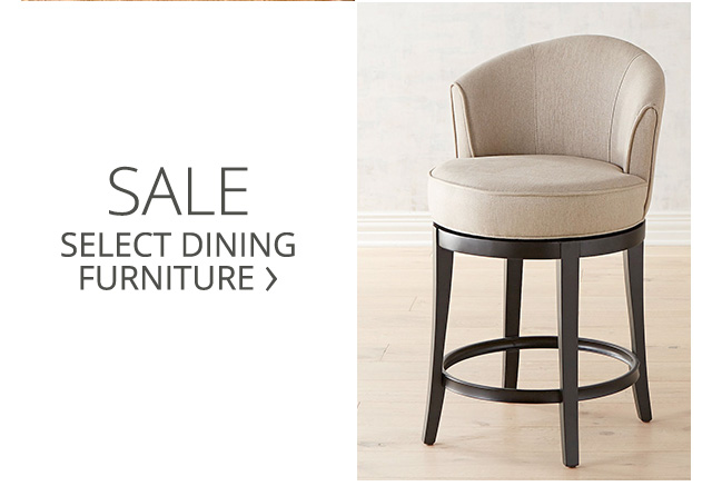 Shop the sale on select dining furniture