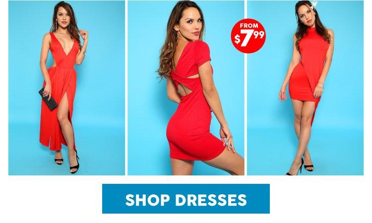 Shop red dresses