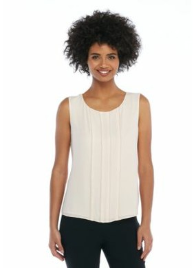 Petite Sleeveless Pearl Trimmed Shell