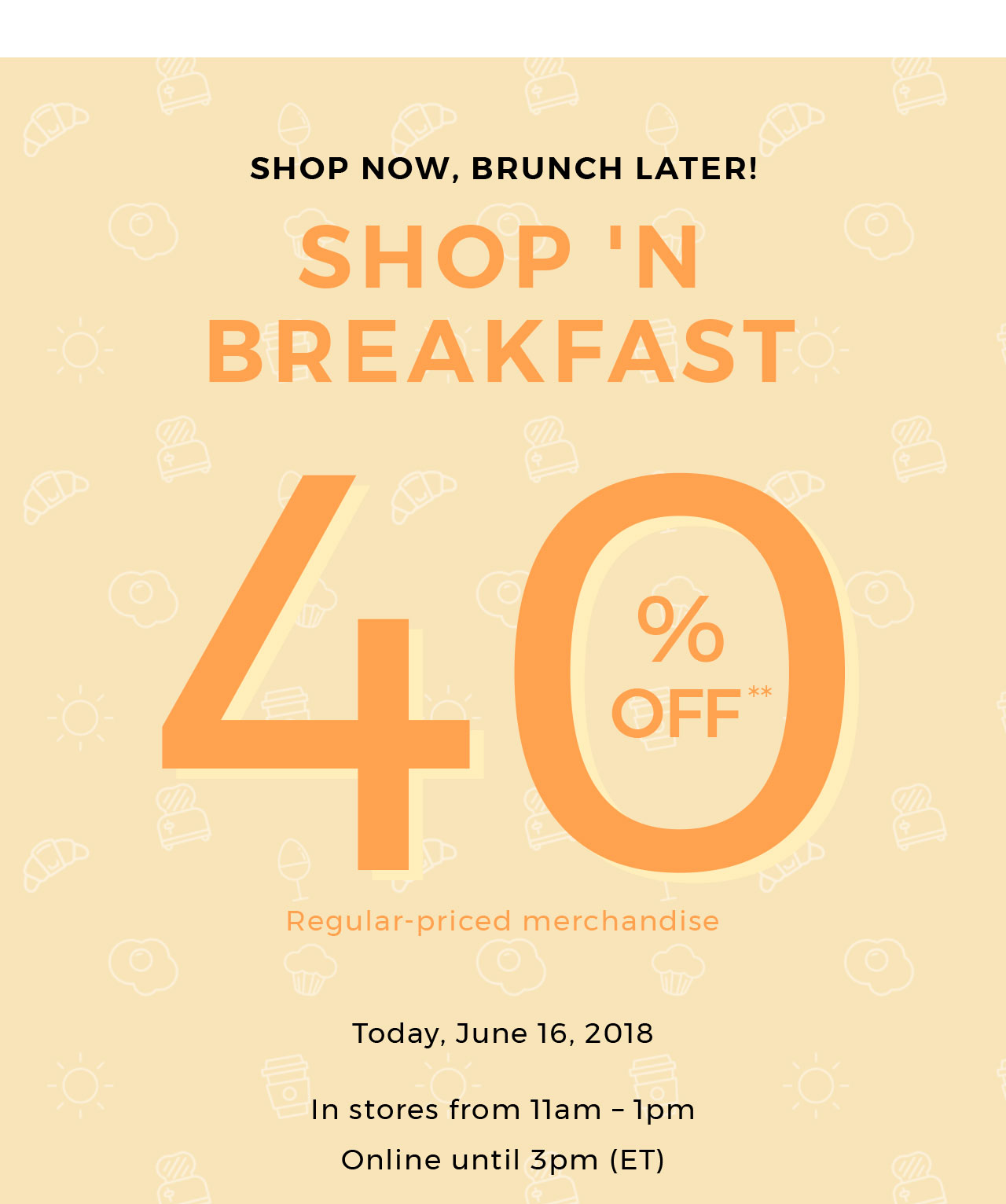 Shop'n breakfast
