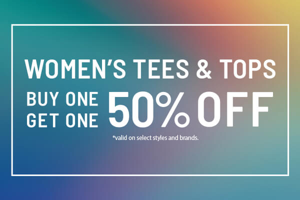 Sale: Women's Tees & Tops - Buy 1, Get 1 50% Off | Shop Women's Sale Tops Now