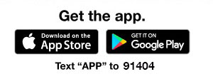 Get The App - Download Here Or Text 'App' To 91404
