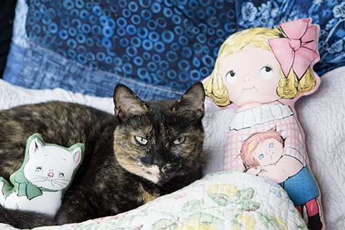 Doll and kitties