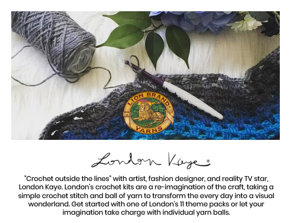 London Kaye. Crochet outside the lines with artist, fashion designer and reality tv star, London Kaye. HOP NOW.