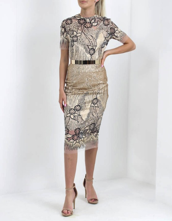 d6e8271bf9 KEVAN JON. Dahlia Knee Dress