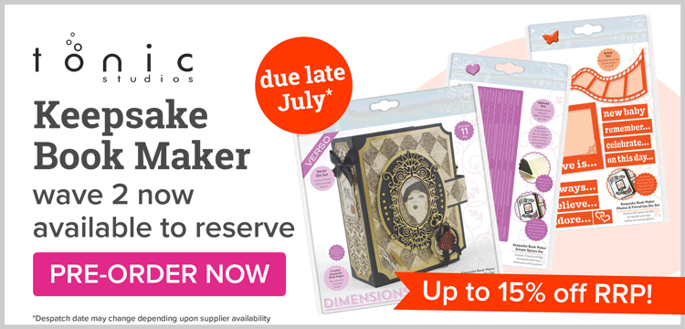 Tonic Keepsake Book Makers available to pre-order!
