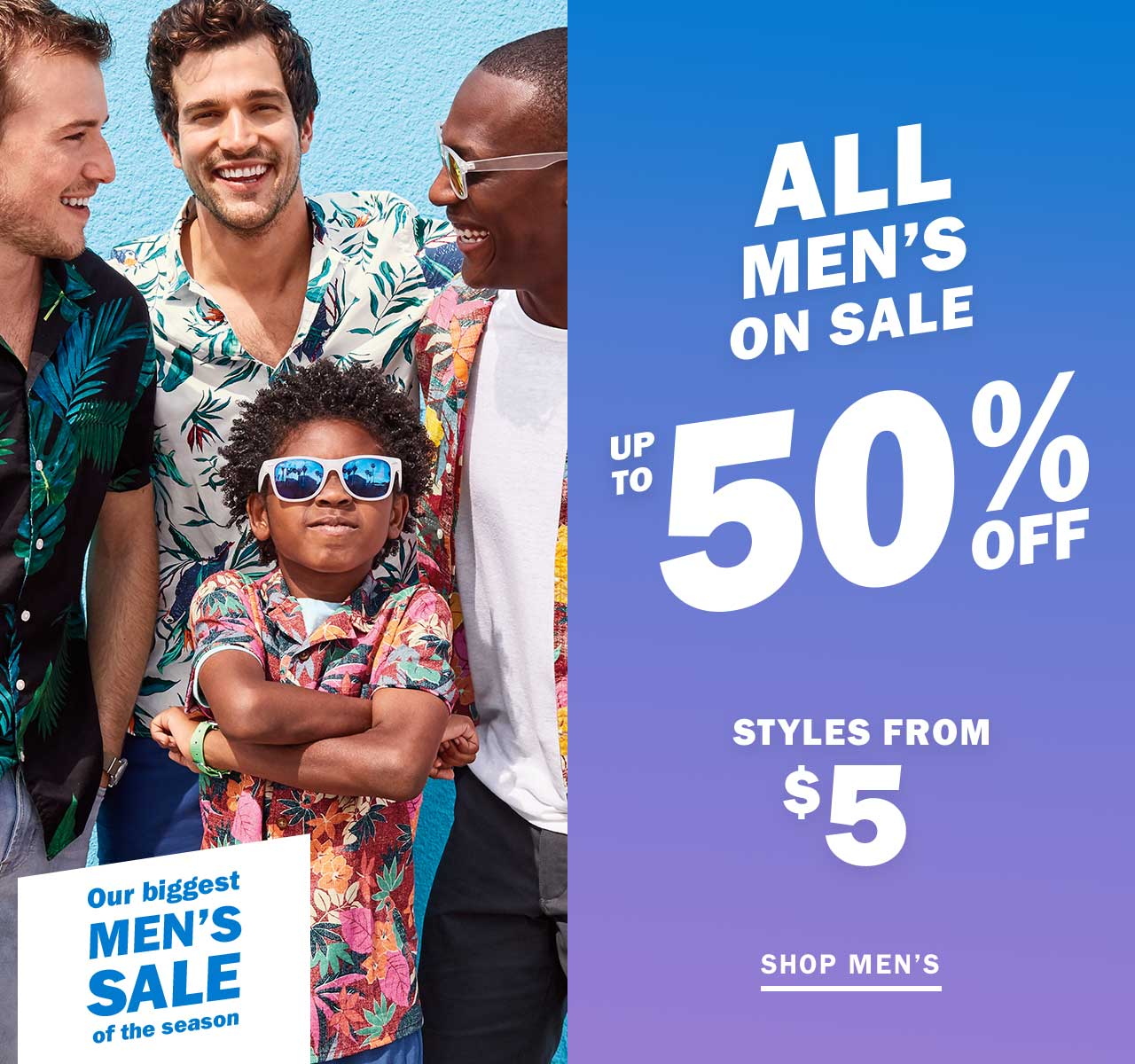 ALL MENS ON SALE UP TO 50% OFF | SHOP MENS