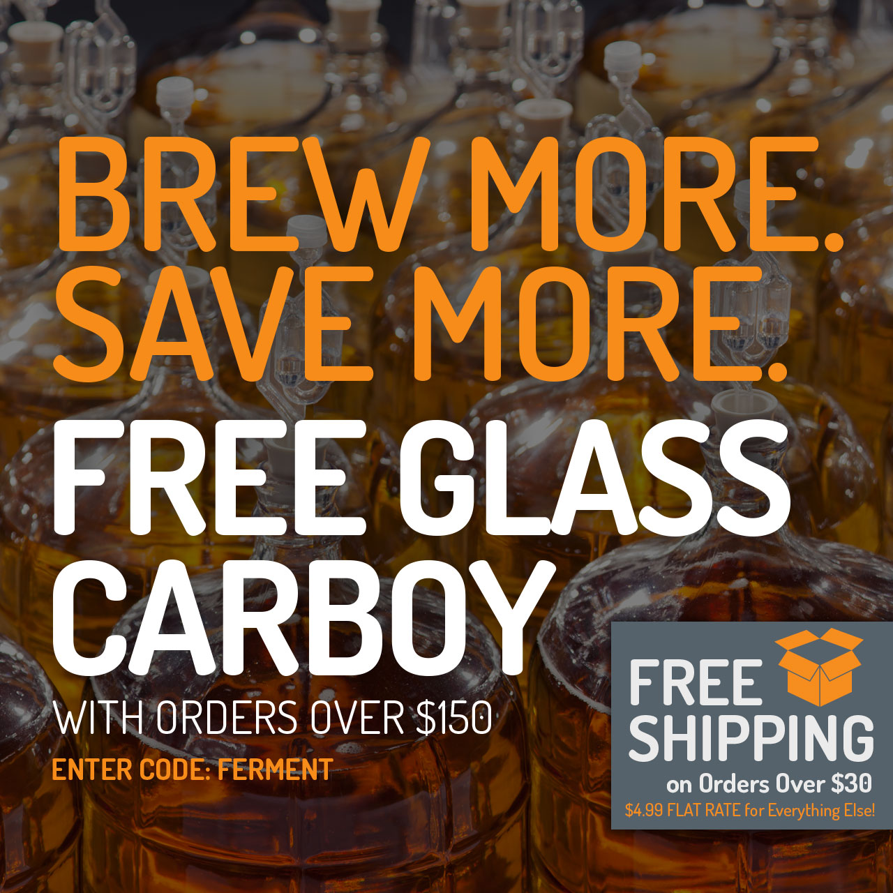 Free Carboy With Orders Over $150