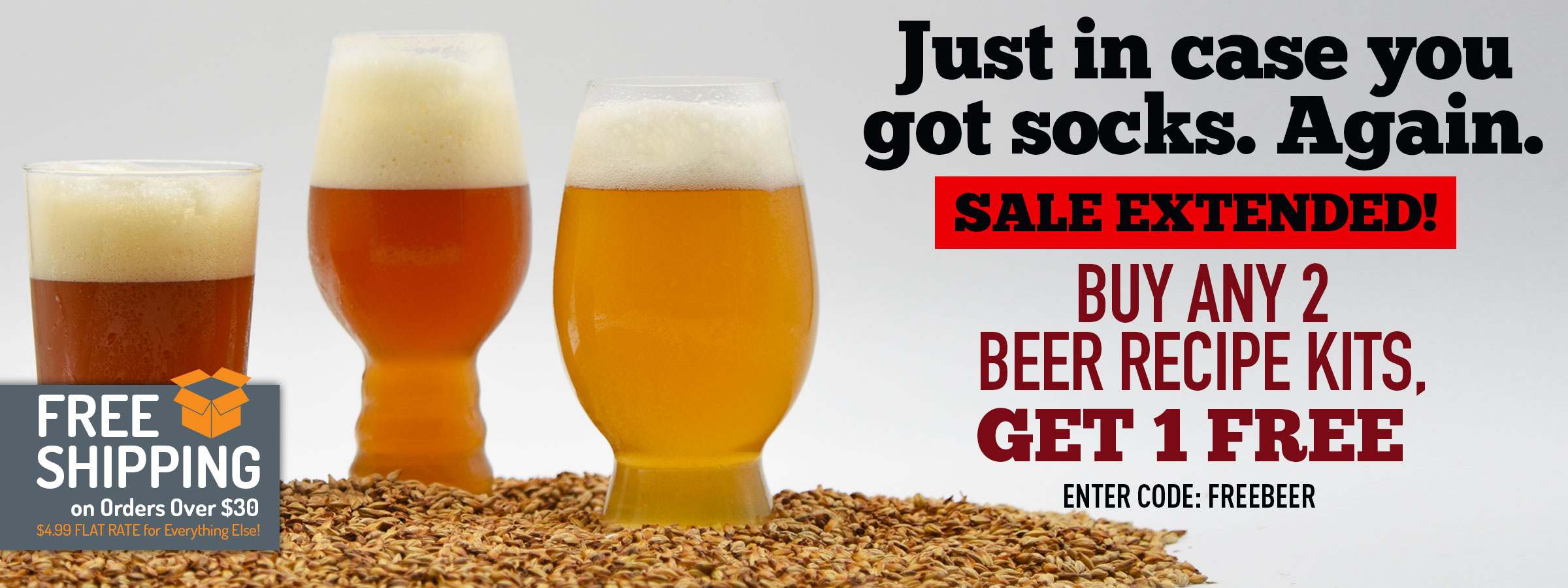 Buy Any Two Beer Kits, Get One Free!