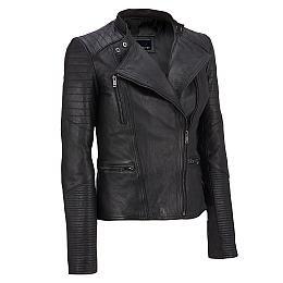 c02bb4d88ea0c Wilsons Leather Asymmetrical Lamb Moto Jacket w  Quilting Details