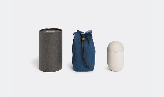 Travel tea can set and bag by Motor Design