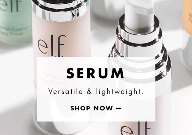 Serum. Versatile & lightweight. Shop Now