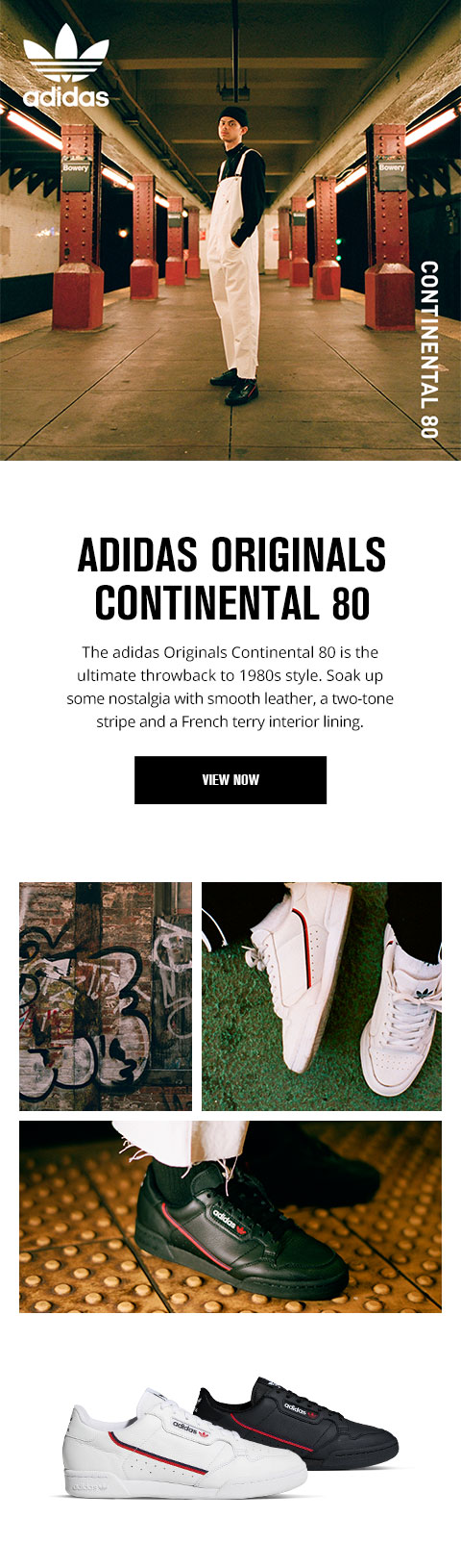 foot locker: avvio domani adidas originali continental 80