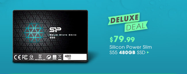 Deluxe Deal - $79.99 Silicon Power Slim S55 480GB SSD