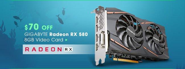 $70 OFF - GIGABYTE Radeon RX 580 8GB Video Card