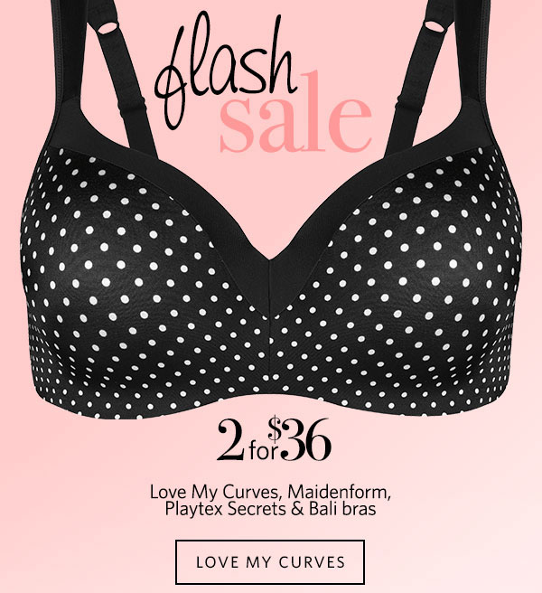 Free Shipping + Playtex Love My Curves Bra Flash  Sale!