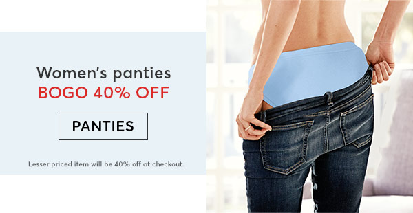 Shop Hanes Panties - Turn on your images