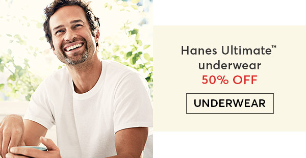 Shop Hanes Ultimate Underwear for Men - Turn on your images
