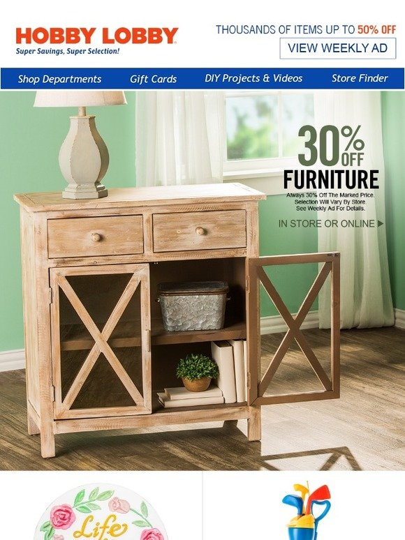 Hobby Lobby Farmhouse Furniture Sale Milled
