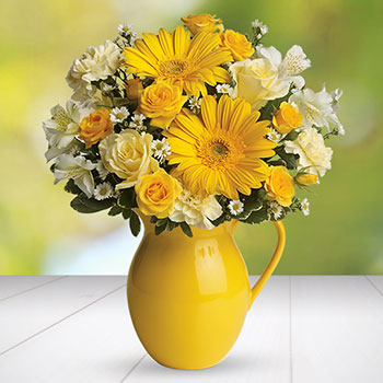 Telefloras Sunny Day Pitcher of Cheer