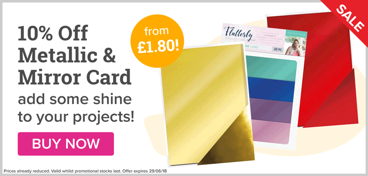 10% Off Metallic & Mirror Card