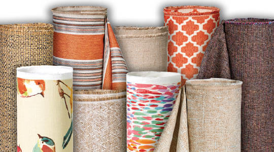 54 inch Home Decor Prints, Solids, Upholstery and Outdoor Fabrics.