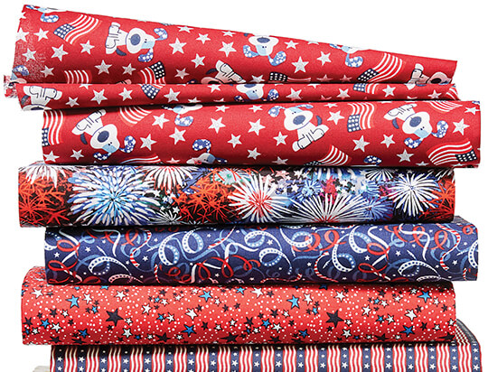 Patriotic and Novelty Cotton Fabrics.