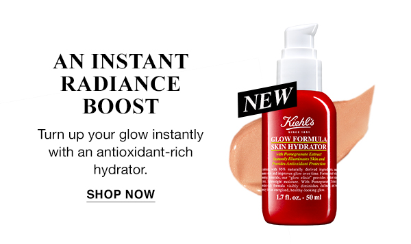 AN INSTANT RADIANCE BOOST - Glow Formula Skin Hydrator - Turn up your glow instantly with an antioxidant-rich hydrator. - SHOP NOW