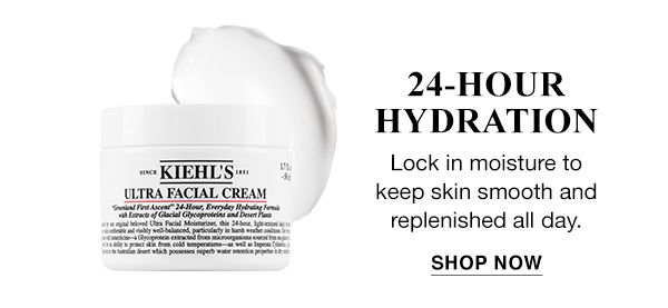 24-HOUR HYDRATION - Ultra Facial Cream - Lock in moisture to keep skin smooth and replenished all day. - SHOP NOW