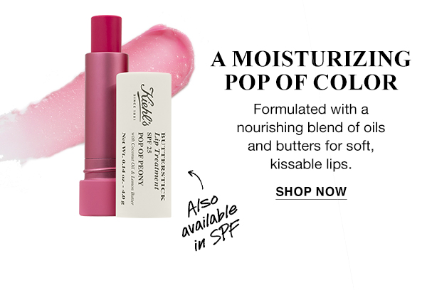 A MOISTURIZING POP OF COLOR - Butterstick Lip Treatment - Also available in SPF - Formulated with a nourishing blend of oils and butters for soft, kissable lips. - SHOP NOW