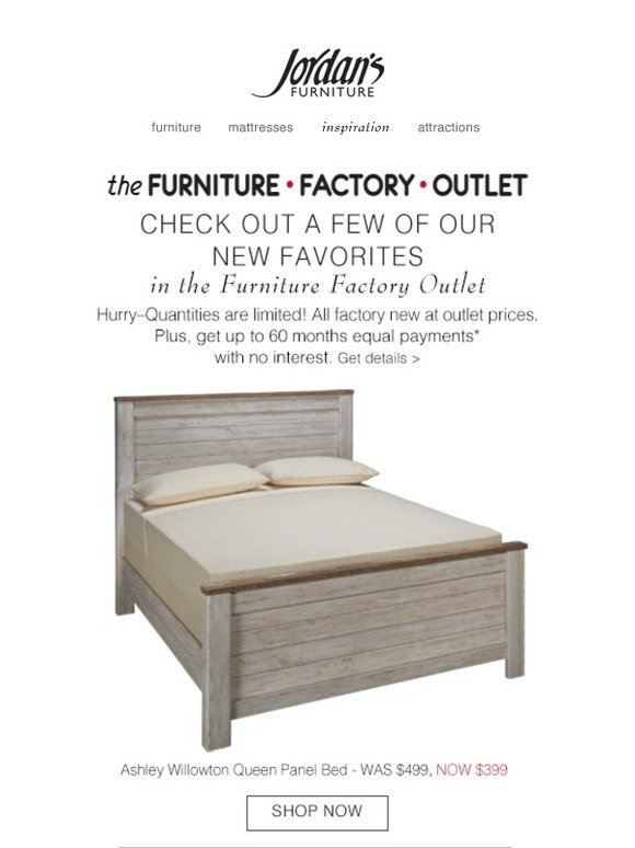 Jordan S Furniture Factory New Furniture At Outlet Prices Milled