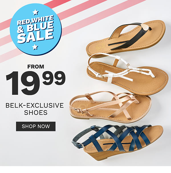 Belk: Red, White \u0026 Shoes from 19.99