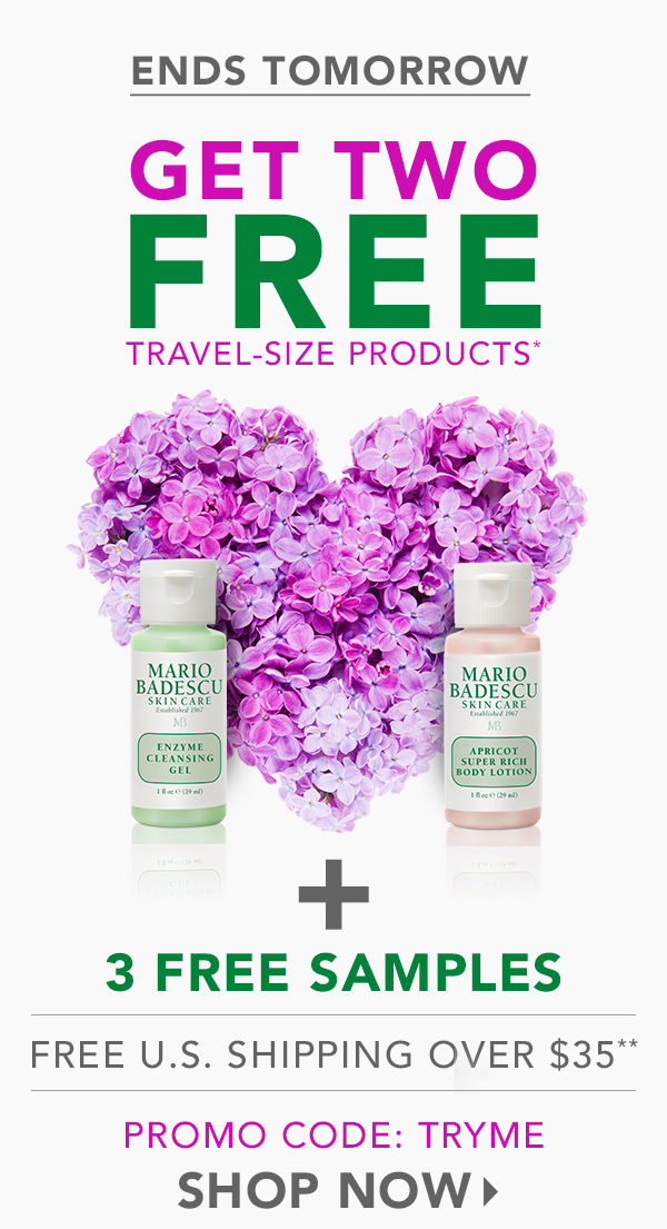 Mario Badescu Skin Care: Ends Tomorrow! Free Travel-Size