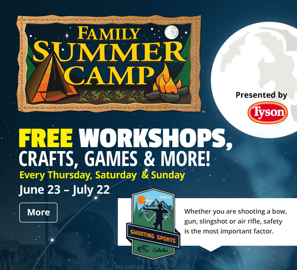 Family Summer Camp | Every Thursday, Saturday, & Sunday | June 23 - July 22