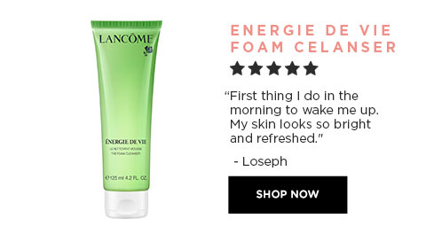 ENERGIE DE VIE FOAMING CLEANSER - First thing I do in the morning to wake me up. My skin looks so bright and refreshed. - HannahMay - SHOP NOW