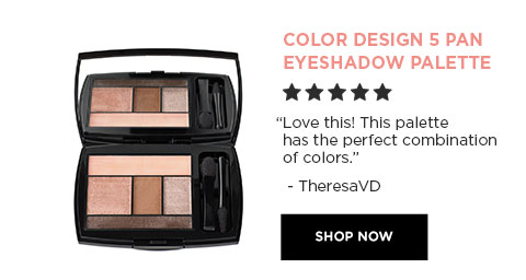 "COLOR DESIGN 5 PAN EYESHADOW PALETTE - ""Love this! This palette has the perfect combination of colors."" - TheresaVD - SHOP NOW"