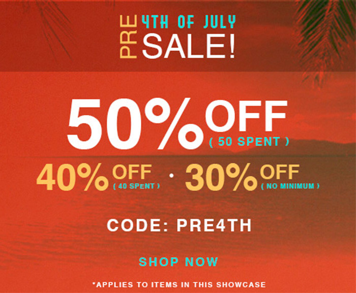 Pre 4th of July Sale