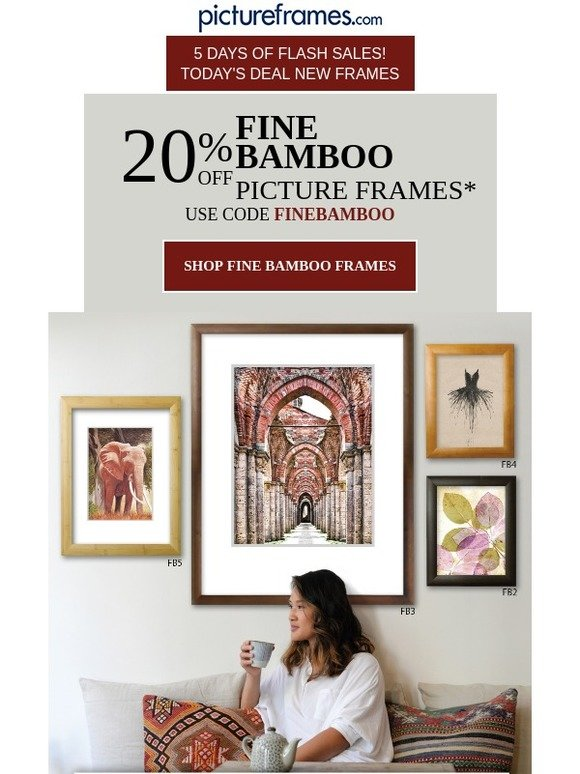 Pictureframes Today Only 20 Off Fine Bamboo Frames Milled
