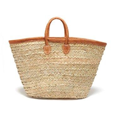 Medina Mercantile Leather-Trimmed Market Basket $80