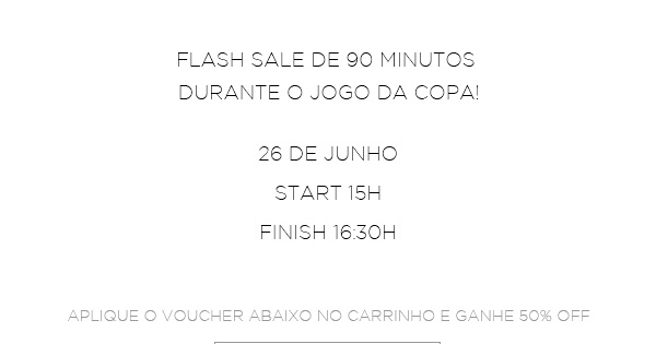 FLASH SALE 90 MINUTOS