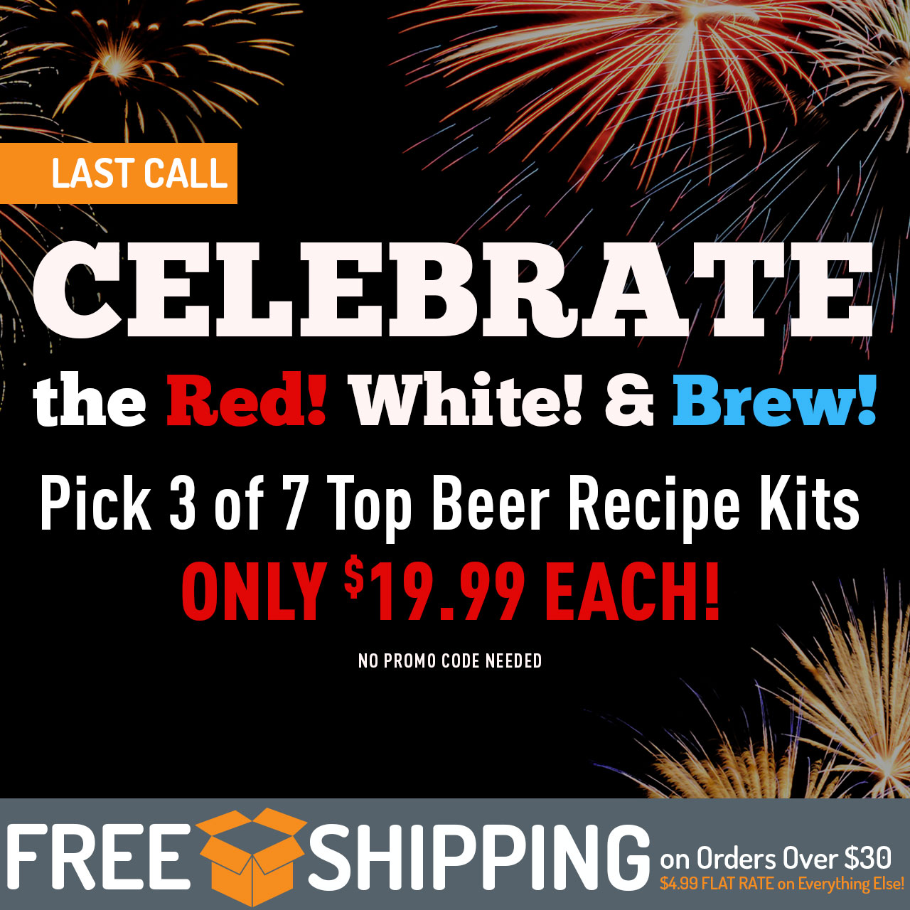 $19.99 Beer Kit Sale! No promo code required. Now though 11:59pm CST on 6/27/2018.