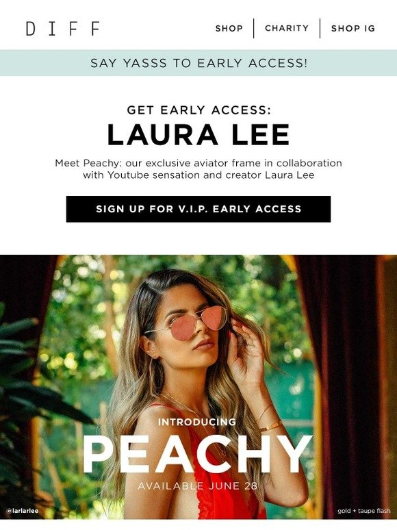 a3c2e2ec87489 DIFF Eyewear  🚨 Announcing the LAURA LEE collab frames!