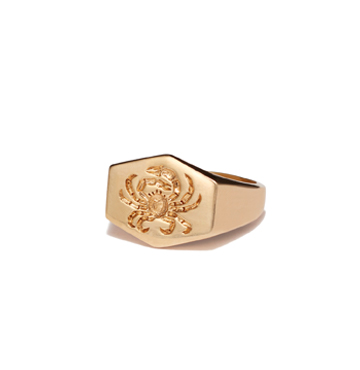 Kim Dunham Zodiac Sign Gold Rings $2,900